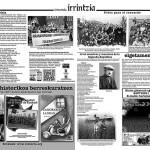 """Periódico """"Intxortako erresistenteen eguna"""" 2015 - interior"""