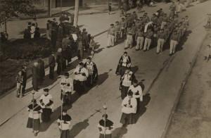 Zona Internacional de Getxo, cortejo fúnebre de Jesús Ortúzar