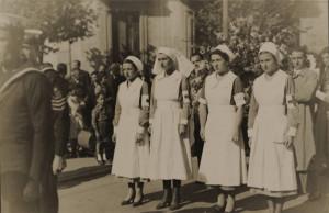 Enfermeras de la Cruz Roja Vasca en la Zona Internacional de Getxo