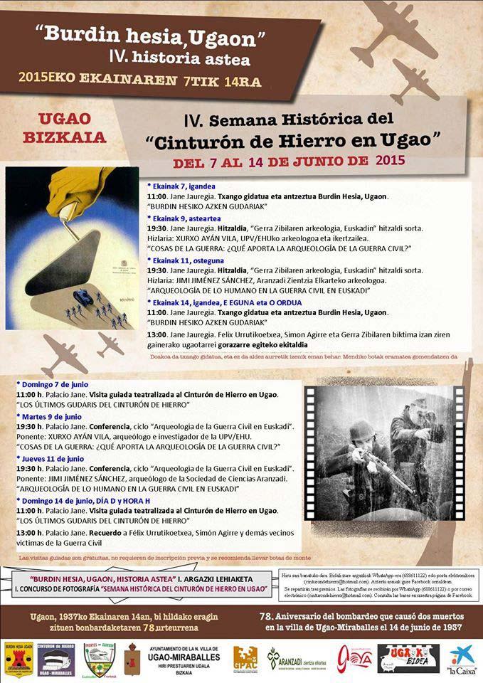 """Progama IV Semana Histórica del """"Cinturón de Hierro en Ugao"""" 2015"""