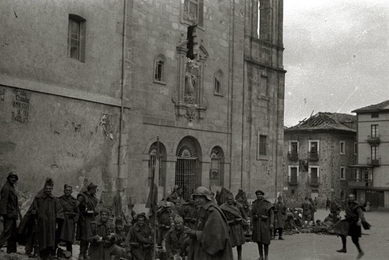 Tropas nacionales en Markina-Xemein, 1937