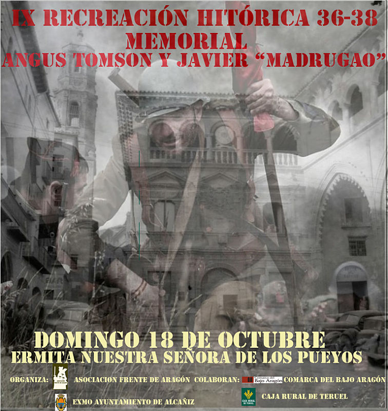 """Cartel de la """"Recreación Histórica 36-38. Memorial Angus Thompson y Javi 'Madrugao'"""" 2015"""