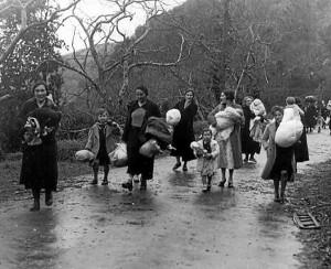 Refugiadas vascas en 1937