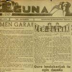 Periódico Eguna. 3-1-1937