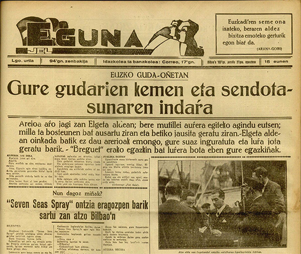 Periódico Eguna. 21-4-1937