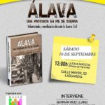 Cartel Presentación libro Álava, una provincia en pie de guerra