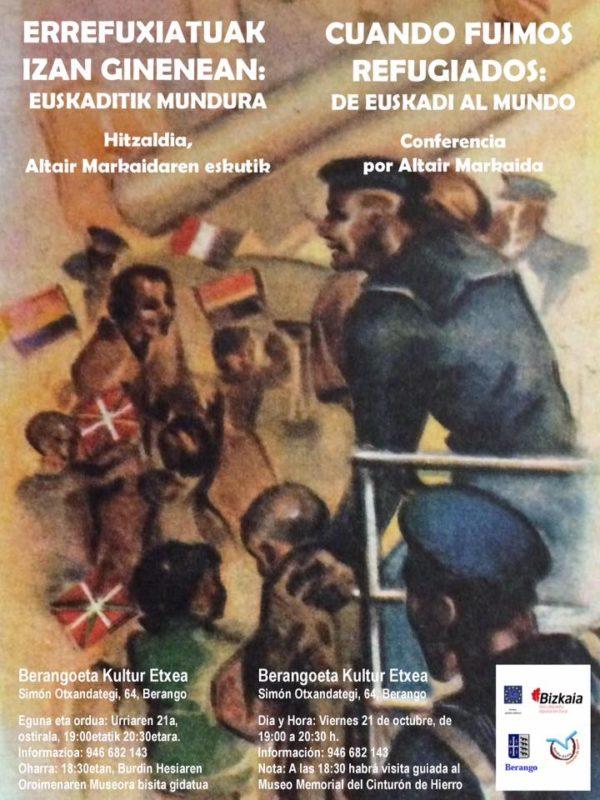 Cartel Conferencia Cuando fuimos refugiados: De Euskadi al mundo