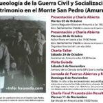 """Ciclo de charlas y visitas """"Arqueología de la Guerra Civil y Socialización del Patrimonio en el Monte San Pedro (Amurrio)"""""""