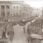 Tropas republicanas a su llegada a Bilbao tras la retirada de Gipuzkoa
