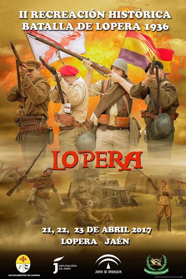 """Cartel de la """"Batalla de Lopera"""" 2017"""