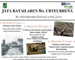 """Cartel """"Jata Batailaren 80. Urteurrena / 80 Aniversario Batalla del Jata"""" 2017"""