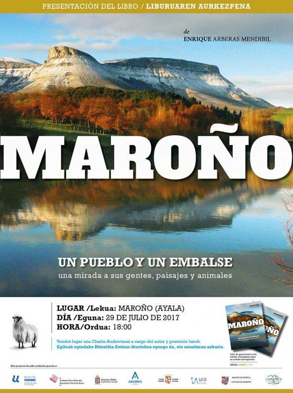 Cartel Presentación libro Maroño, un pueblo y un embalse