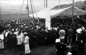 Colocación de la primera piedra de la Casa Reformatorio del Salvador de Amurrio en 1917