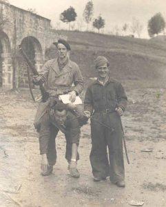 Milicianos del Batallón Bakunin en Amurrio