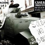Cartel la Sensación de Vivir la Historia. Candamo 36-37 Jornadas de Recreación Histórica 2017
