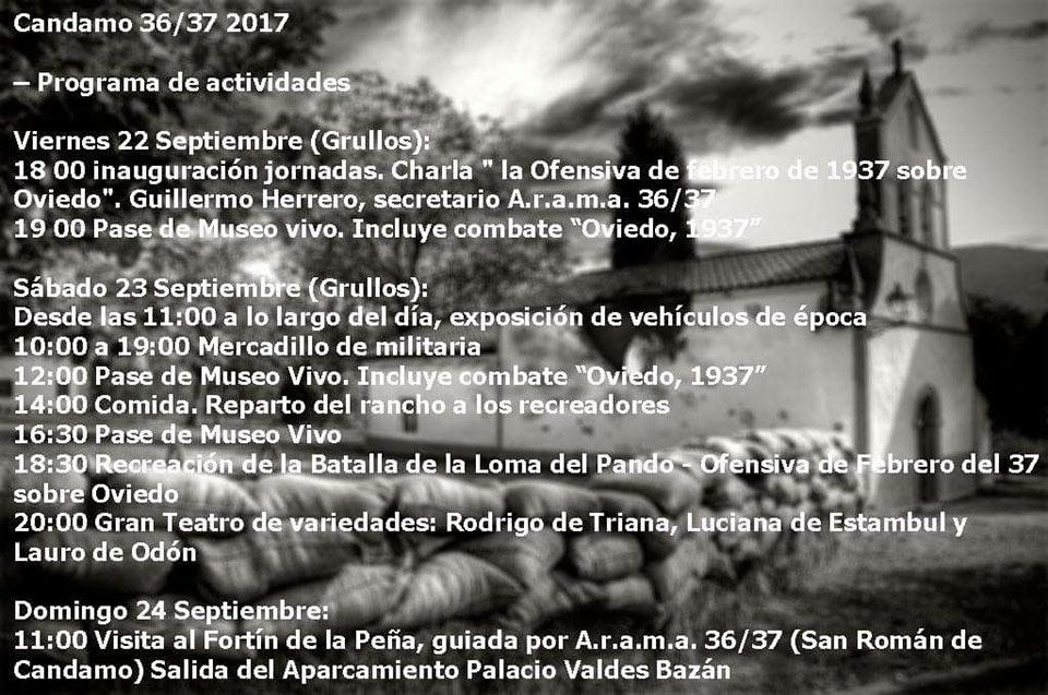Programa de Candamo 36-37 Jornadas de Recreación Histórica 2017