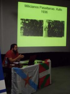 Falencia / Hitzaldia Anarquistas galegos en Euskadi: O Batallón Bakunin 16-09-2017 - 03