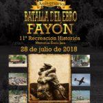 """Cartel """"1938-2018 - 80 Aniversario Batalla del Ebro - 11ª Recreación Histórica"""""""