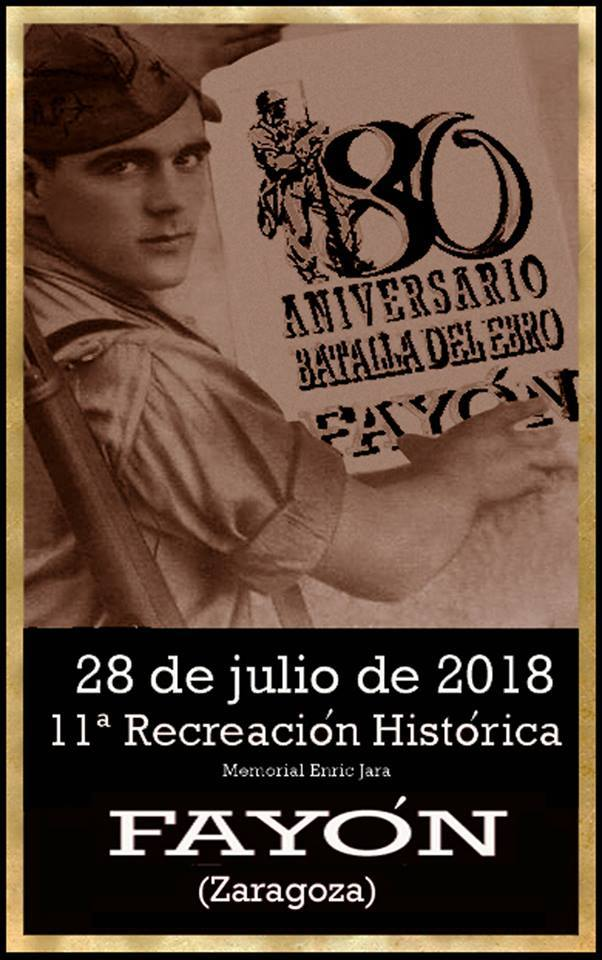 """Cartel """"La Batalla del Ebro XI Recreación Histórica"""" 2018"""