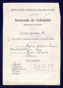 Expediente depurativo de Luis Hernández