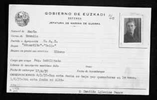 Gudari txartela: Marina Auxiliar de Euskadi