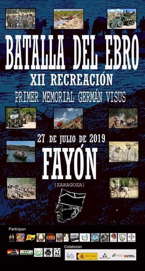 """Cartel """"Batalla del Ebro XII Recreación"""" 2019"""