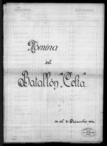 Nómina del Batallón Celta del 16 al 31 de diciembre de 1936 - pagina 1