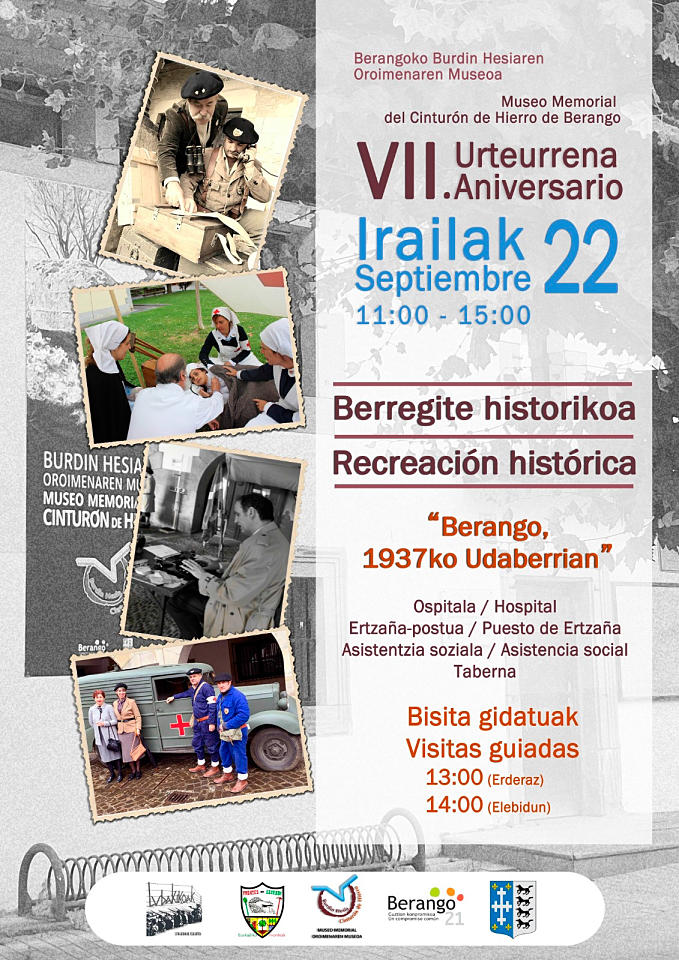 Cartel Berangoko Burdin Hesiaren Oroimenaren Museoa VII. Urteurrena / Museo Memorial del Cinturón de Hierro de Berango VII Aniversario - 2019