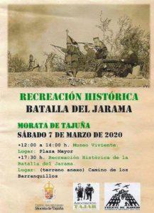 """Cartel y programa """"Batalla del Jarama"""" 2020"""