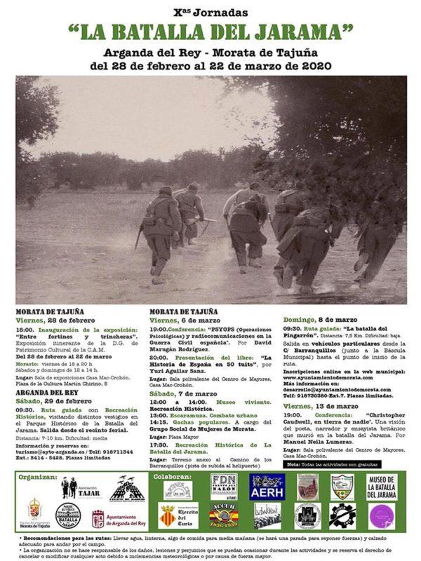 """Cartel y programa """"La Batalla del Jarama"""" 2020"""