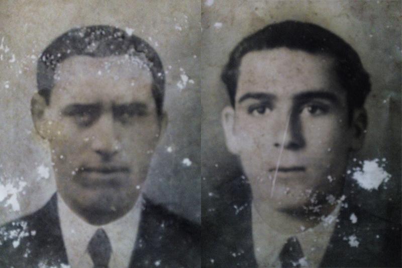 Los hermanos Manuel y Antonio Aguete Lino